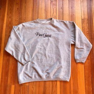 Pure Guess Grey Sweat Shirt Size Large